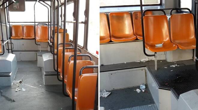 danni a bus amc da tifosi della reggina