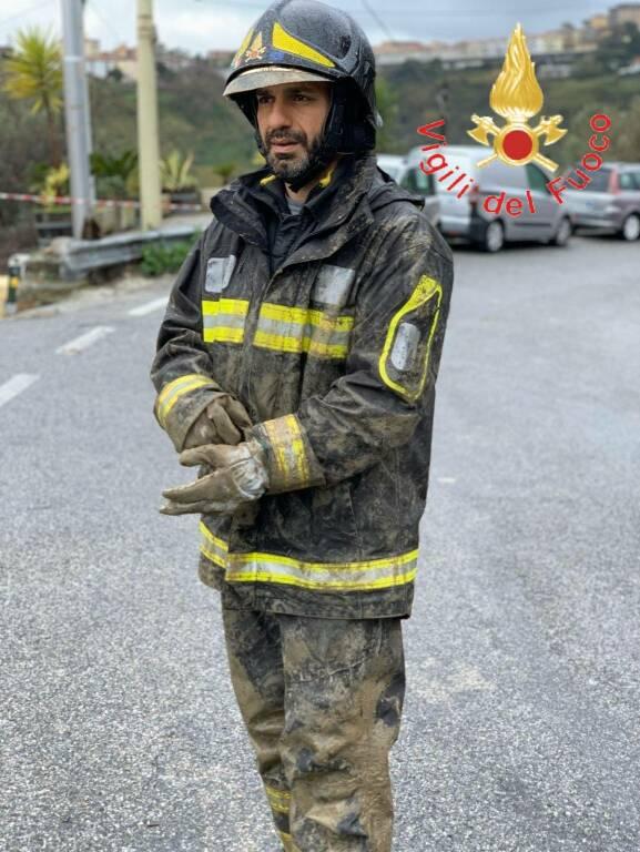 maltempo catanzaro interventi vigili del fuoco