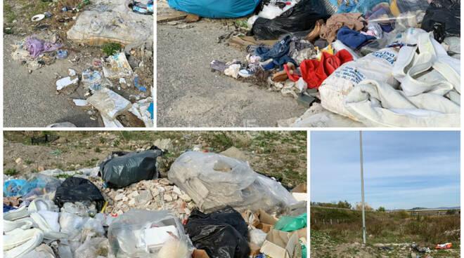 spazzatura e discarica a ridosso del comalca