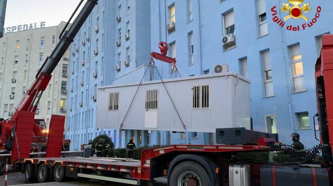 Vigili del Fuoco Crotone ospedale