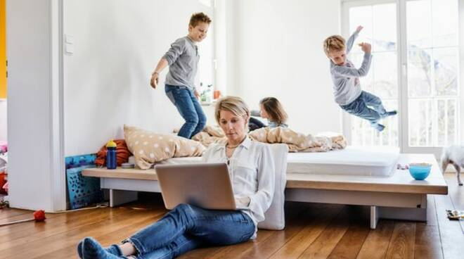 famiglia durante coronavirus