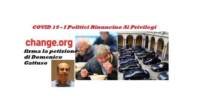 petizione stop privilegi politici