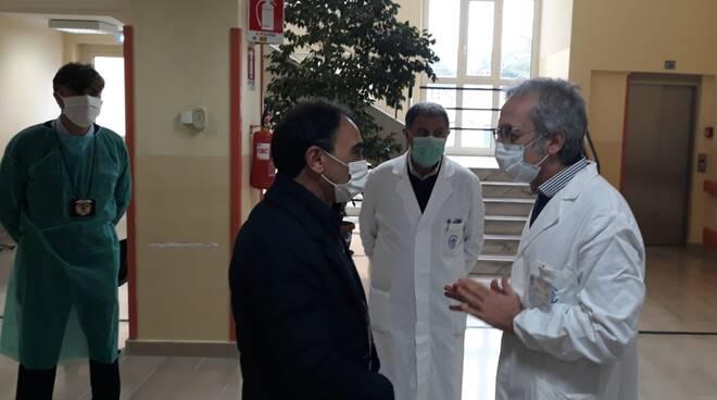 Sergio Abramo visita il ciaccio