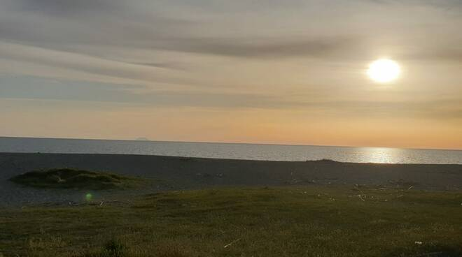 Tramonto mare Marinella