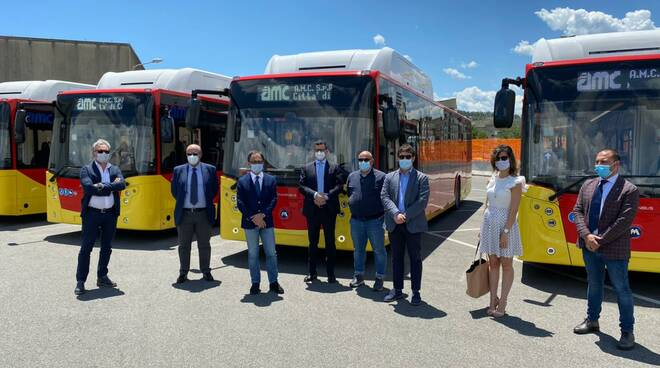 Presentazione nuovi autobus Amc
