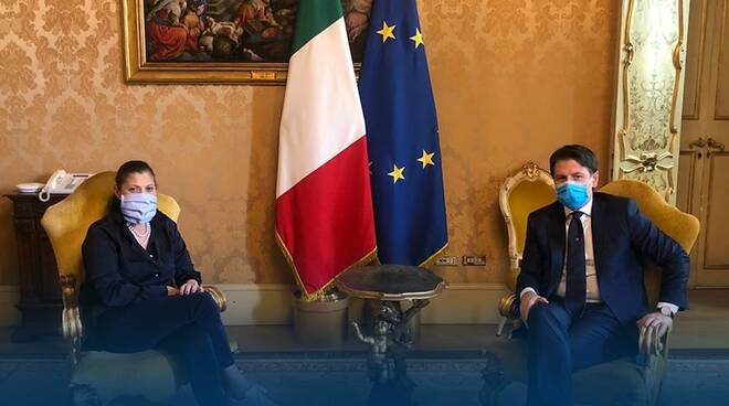 Jole Santelli incontra Giuseppe Conte a Roma