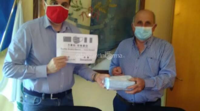 mascherine donate dalla Chiesa Cristiana Evangelica cinese di Prato a Sellia
