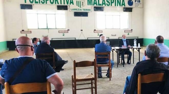 riunione Fib Calabria per bocce
