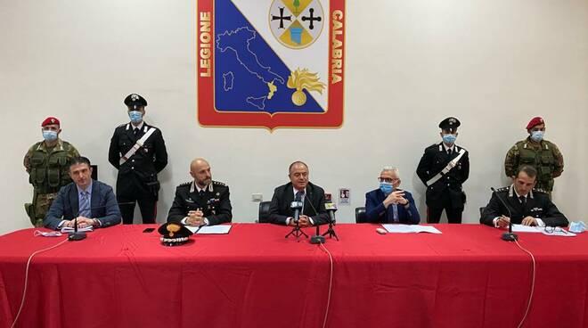 conferenza overture dda carabinieri Gratteri