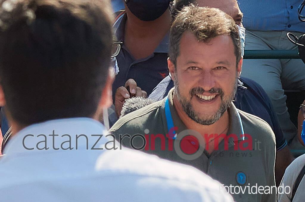 Salvini a Catanzaro (miraya)