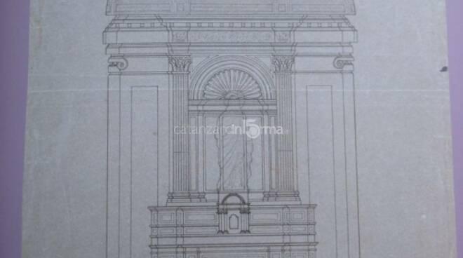 Disegno liberty per cattedrale