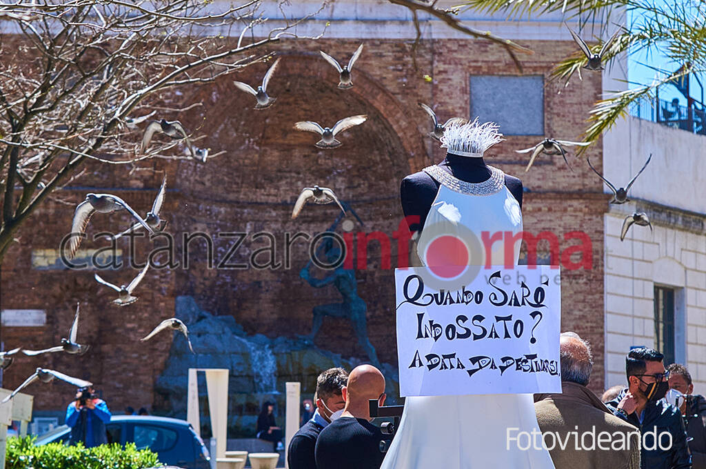 Protesta professionisti settore wedding
