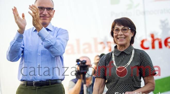 Amalia Bruni e Enrico Letta