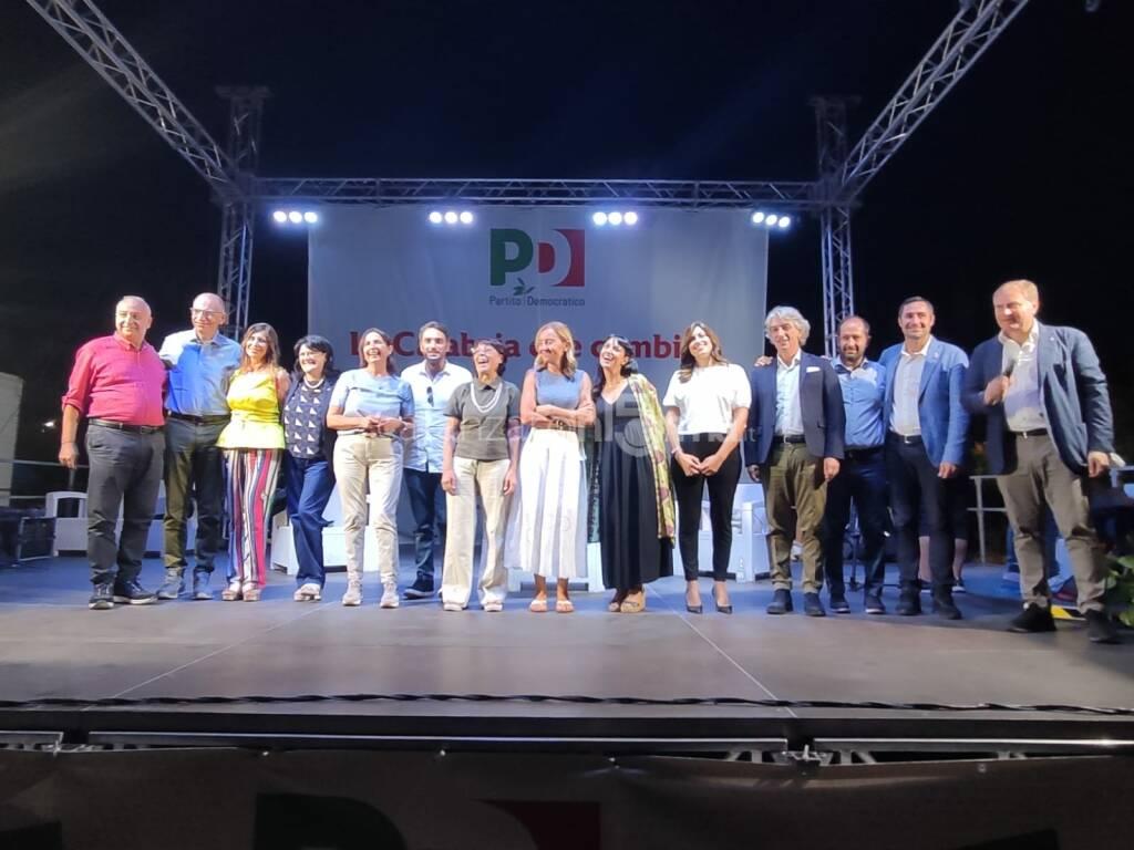 Festa dell'Unità a Catanzaro, candidati Pd Calabria