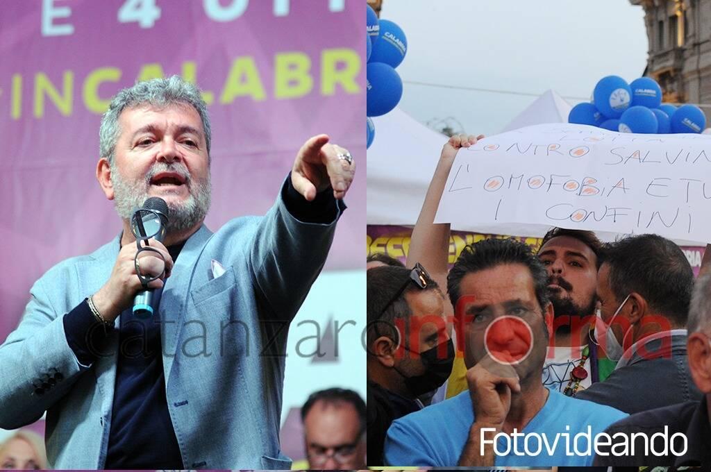 Salvini a Catanzaro, Spirlì contro ragazzo nel pubblico